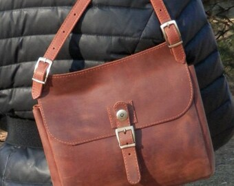 Leather Bag, Leather Shoulder Bag, Leather Shoulder Purse, Handmade Bag, Brown Leather Handbag, Leather Crossbody Bag, Women Messenger Bag