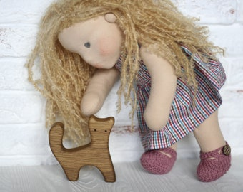 "Waldorf Doll Milena 14""(36sm), natural fiber art doll"