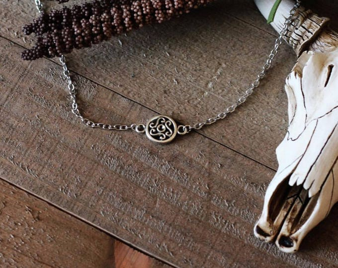 Handcrafted jewelry, celtic charm choker