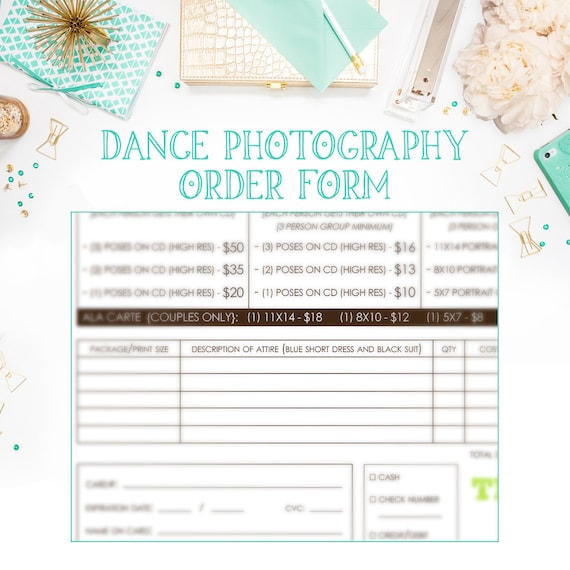 School Dance Or Dance Team Photography Order Form Template Available For  Immediate Download As A Layered Photoshop PSD File   INF102BF