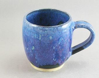 Pottery Coffee Mug Stellar Purple Green to Black SPGTB29