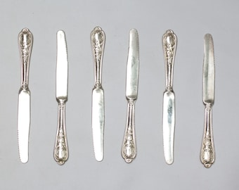 Set of 6 Vintage Silver Plated Knives Serving collection Silver Plated Mid century, wedding, Housewarming, Collectibles, ohtteam