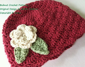 Hat Crochet Pattern - Shell Stitch Cap Crochet Pattern No.113 Baby Preemie Newborn Baby Sizes English