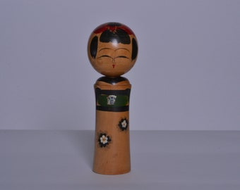 Japanese Vintage Kokeshi Doll  21cm japanese traditional wooden doll