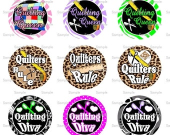 Quilting Queen Bottle Cap Images 4x6 Bottlecap Collage Scrapbooking Jewelry Hairbow Center