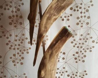 Sculpture en bois flotté,art en bois flotté,sculpture sur bois,décor bois plage,art,verre de plage dépoli,,déco verre de plage,bois art