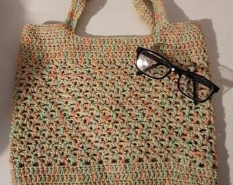 Cotton/wool blend shopping market bag