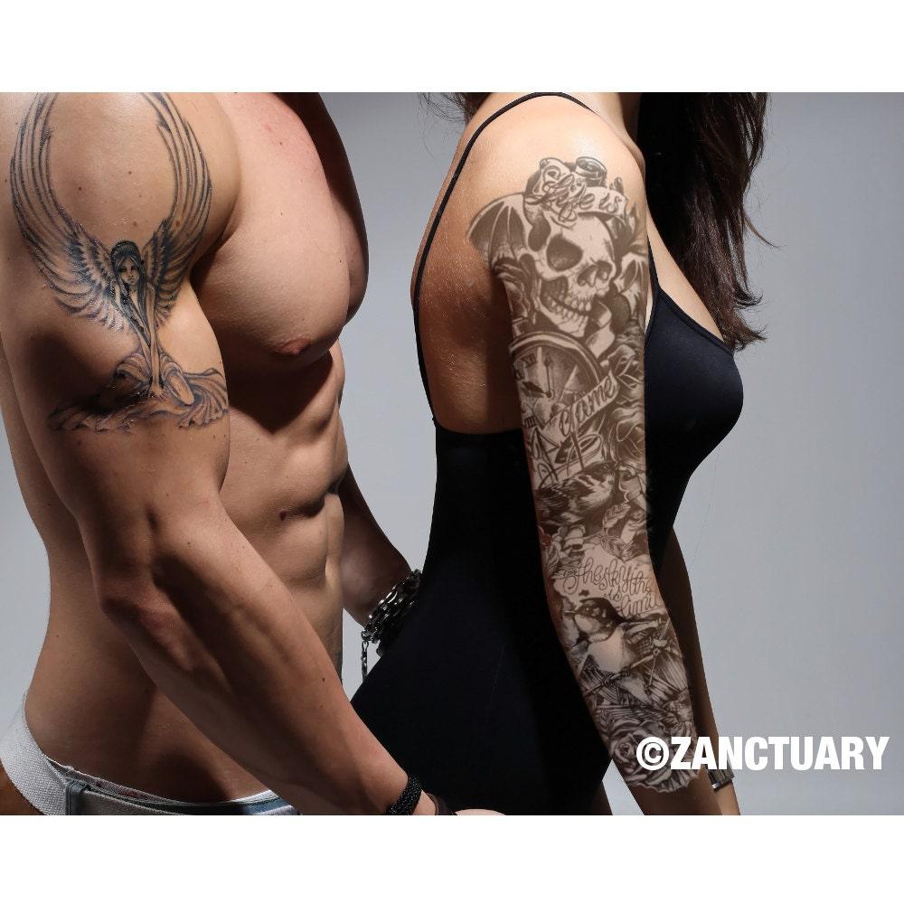 femmes femme manches tatouage temporaire faux tatouent manches. Black Bedroom Furniture Sets. Home Design Ideas