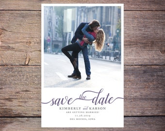Save the Date Postcard, Save-the-Date Card, Calendar, Photo, DIY Printable, Digital File – Kimberly