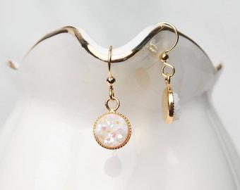 Druzy Earrings, Dangle Druzy Earrings, Bridesmaid Earrings, Group Gift, Teen Gift, Druzy Gift