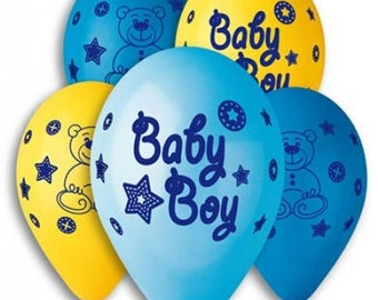 Baby boy balloons, baby girl, party decorations, birth, baby shower balloons, party decoration
