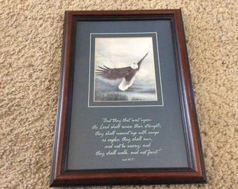 """Larry K Martin open print """"Time to Soar"""" With quote from Isaiah 40:31"""
