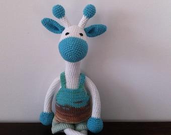 Amigurumi giraffe,Crochet giraffe,White crochet giraffe,Plush giraffe