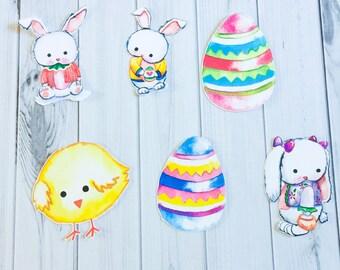 Hoppy Easter Die Cut Set - Easter Die Cuts - Spring Die Cuts