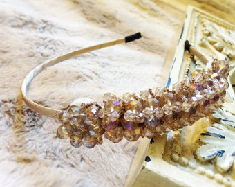 Bridal headpiece, Wedding Headband, Rhinestone Headband, Crystal Accessories, Prom, Flower Girl Headband, Holiday Gift, Bridesmaid Gift