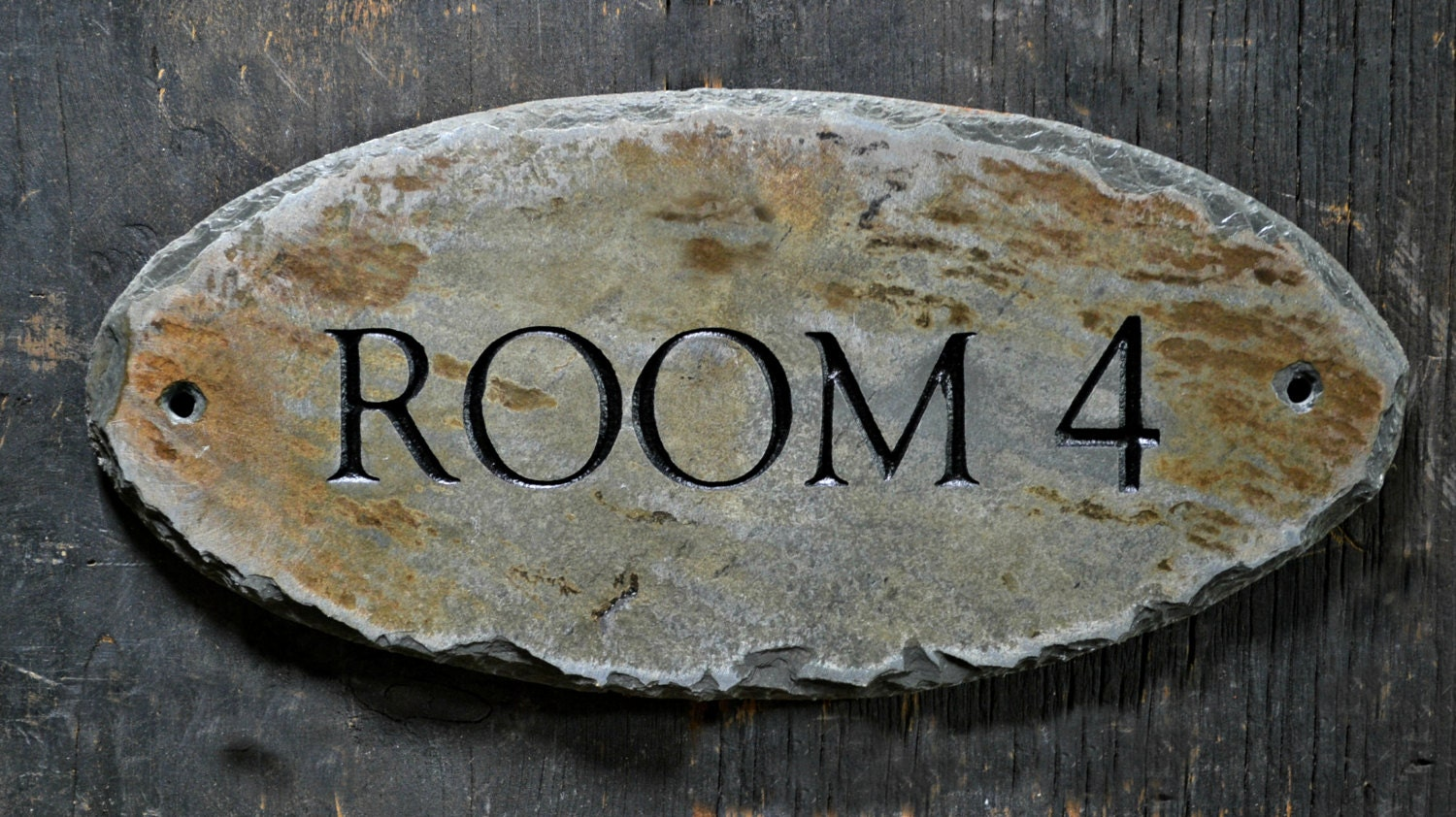 ?zoom & CUSTOM Carved DOOR SIGN / Stone /Slate / Plaque / Label /