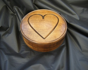 Carved Heart Jewelry Box