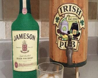 Plush Felt Whiskey Bottle