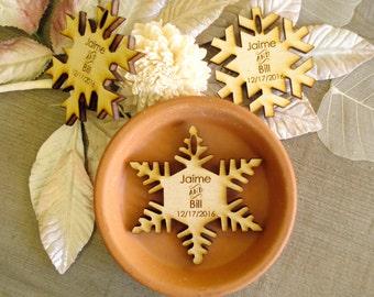 100 Snowflake Wedding Favors Winter Wedding Snowflakes