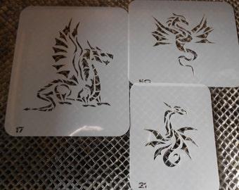 Dragon Stencils Set 30!