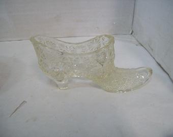 Fenton Clear Daisy & Button  Shoe Slipper, Free Shipping, C4