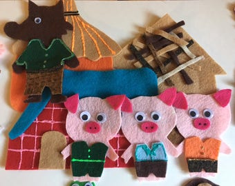 The Three Little Pigs - Children's Felt / Flannel Story for Early Childhood Education