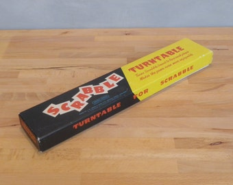 A 1950s era Scrabble Turntable - makes playing Scrabble easier, vintage toy, puzzle, word game