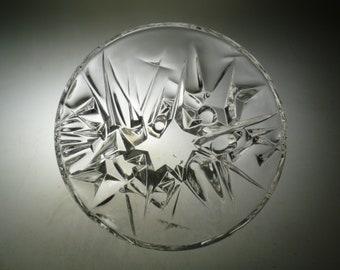 Czech art glass bowl, Oliva Podebrady