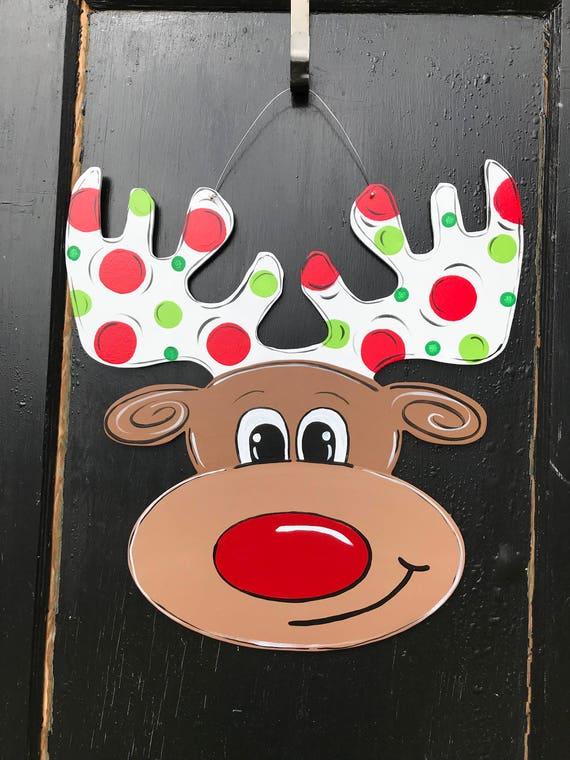 Reindeer Door Hangerchristmas Door Decorchristmas Door