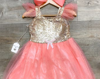 Sparkly Coral Dress