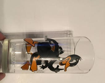 daffy duck vintage pepsi cola drinking glass from 1973