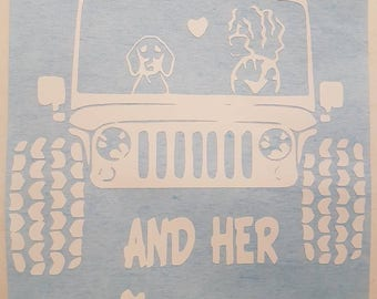 A Girl Her Dog And Her Jeep Decal