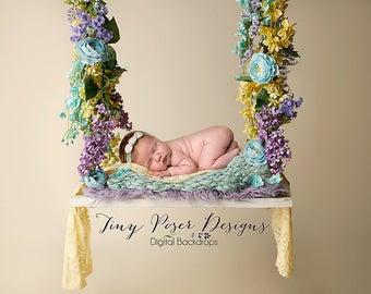 Digital Backdrop Background Composite Swing Newborn Photography Prop
