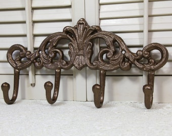 Bronze Multi Hook Wall Organizer / Coat Rack / Towel Holder / Jewelry Hanger / Decorative Wall Hooks / Towel Rack / Towel Hooks for Wall