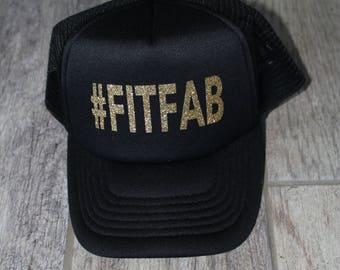 Gold Glitter Trucker Hat