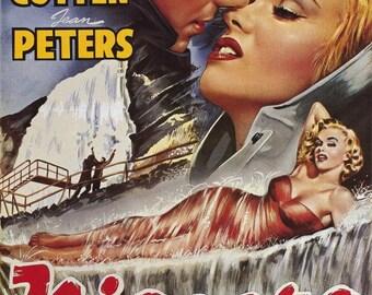 Niagara (1953) movie poster 11 x 17 Marilyn Monroe Joseph Cotten film noir thriller Jean Peters Max Showalter honeymoon Niagara Falls