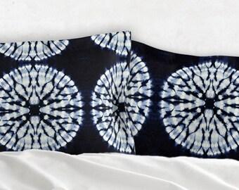Blue Tie Dye Bedding - Pillow Sham - Tie Dye Bedding - Bohemian Decor King or Standard Shams for Girls Bedroom Bedspread for Teens Room