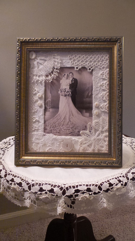 Items Similar To Victorian Picture Frame Shabby Wedding