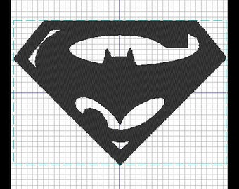 Pattern of embroidery SUPERMAN / BATMAN
