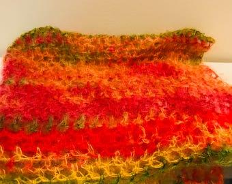 Rainbow newborn wrap - bright newborn wrap photo prop