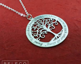 Tree of Life Necklace, Tree Of Life Pendant, Custom Tree Of Life Pendants, Personalized Tree Of Life Pendant, Tree Of Life Jewelry, Charm