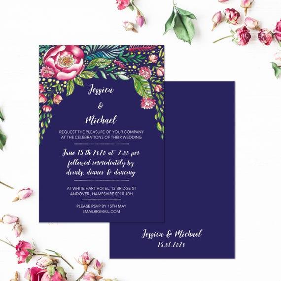 Navy marsala wedding invitations, Marsala wedding invites, Burgundy and navy wedding invitations, Navy floral wedding, Maroon invitation set
