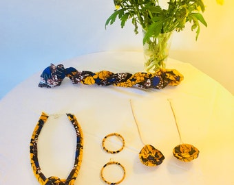Knot Ankara Necklace / African Pring Knot Necklace