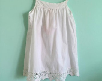 White Lace Dress/ Custom Dress 24m