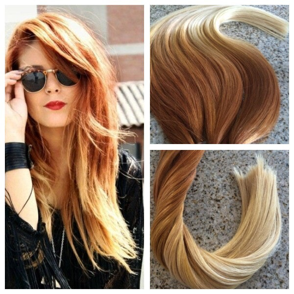 5 Star Ombre Balayage Cuticle Remy Human Copperauburn Ombre