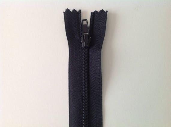 """Nylon coil zipper, 20cm (8""""), navy"""