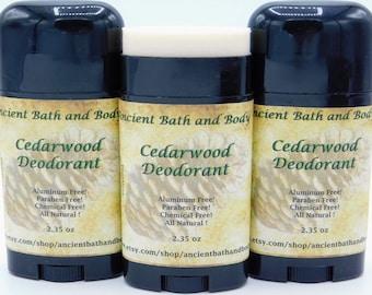 Cedarwood Deodorant, Aluminum Free Deodorant, Natural Deodorant, Chemical Free Deodorant, Artisan Deodorant