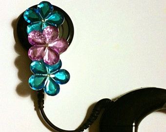 Cochlear Cuties: Jeweled Flower Barrette Style (select quantity 2 for a pair )!