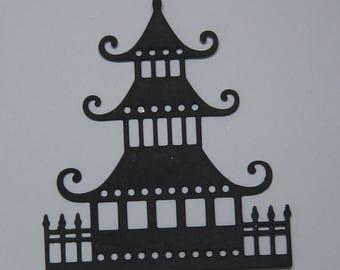 5 Asian Pagodas Die  Cuts