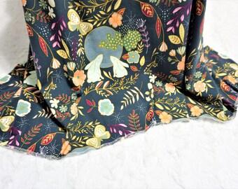 Woodland swaddle blanket girl swaddling blanket woodland nursery woodland baby bedding bunny swaddle blanket